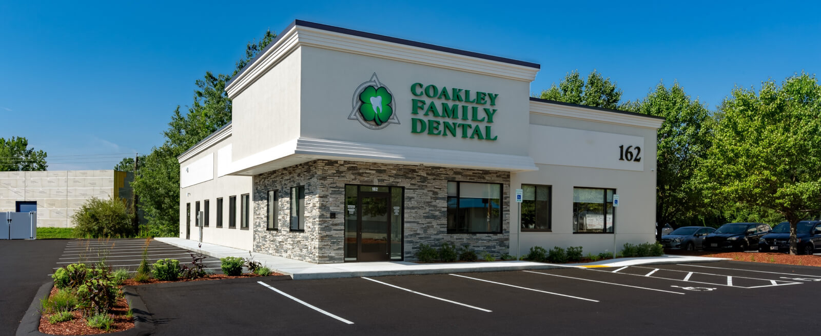 photo of the front of Coakley Family Dental facility, a completed McCarty Companies construction project